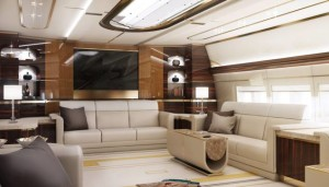 Boeing 747-8 outfitted with a VIP interior